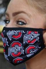 Ohio State Block O Adjustable Fit Face Covering