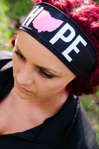 "4015 - REVERSIBLE Komen ""Hope"" Headband"
