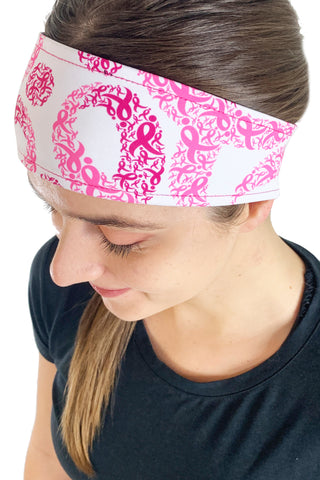 "REVERSIBLE Komen ""Hope"" Headband"