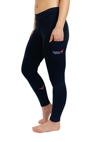 Komen Pink Ribbon Victory Legging/Black