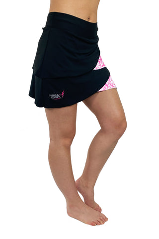 Komen Pink Ribbon Performance Skort/Black & Pink