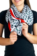 Ohio State Game Day Buckeye Pocket Infinity Scarf/Grey - BACKORDERED UNTIL 10/25