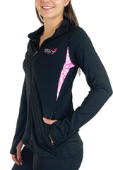 Komen Pink Ribbon Full Zip Pullover/Black