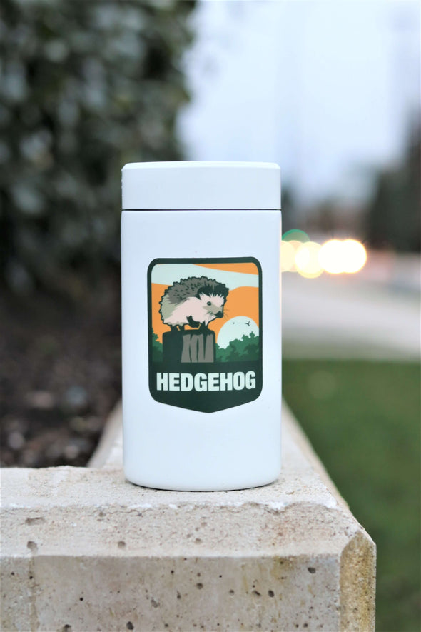 hedgehog badge sticker