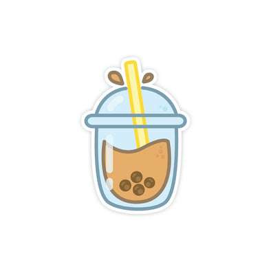 Kawaii Bubbletea Sticker - Soshl Tags