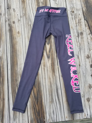 Black with Pink Scales leggings