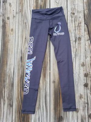 Leggings Black with Blue Scales Youth