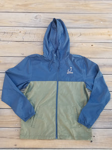 Wind jacket with coral logo