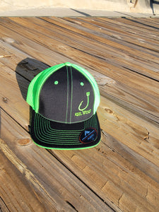 Black Neon Green Fitted