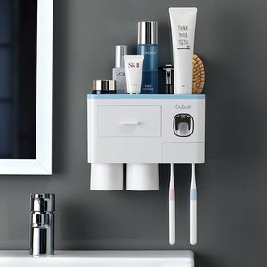 Automatic Toothpaste Dispenser Wall Mount Bathroom Accessories Organizer Tool