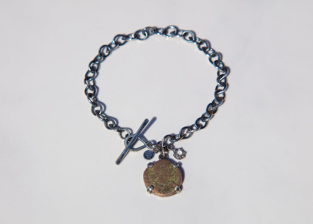 Ancient Roman Coin Link Bracelet