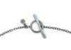 handmade oxidized sterling silver toggle clasp