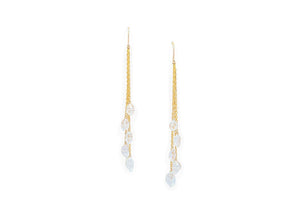 vermeil herkimer diamond dangle earrings