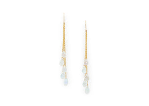 moonstone teardrop briolette earrings