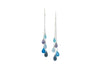 monochromatic blue gemstone cascade earrings