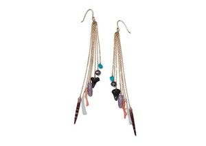 Hawaii beach chic shark tooth shell earrings