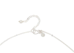 hammered silver hook clasp with extension chain and freshwater pearl