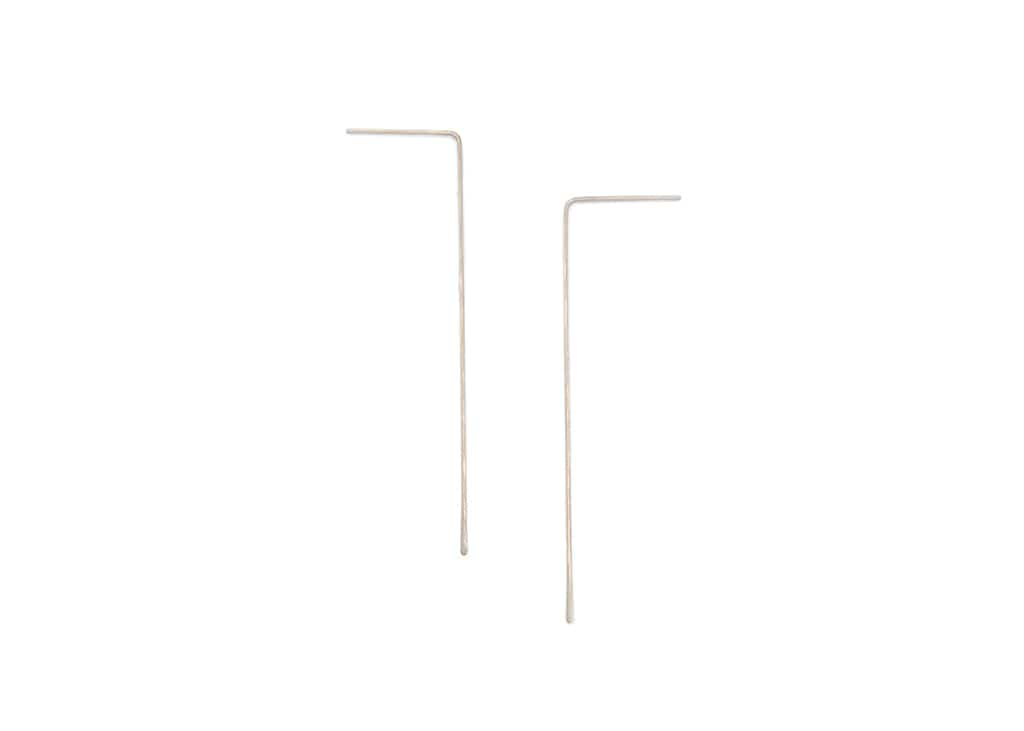 minimalist wire earrings