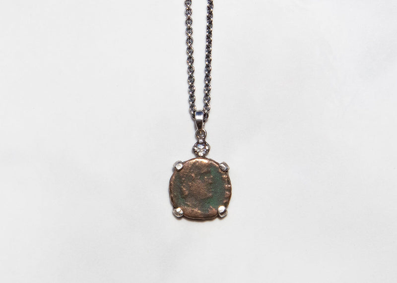 Small Ancient Roman Coin Necklace