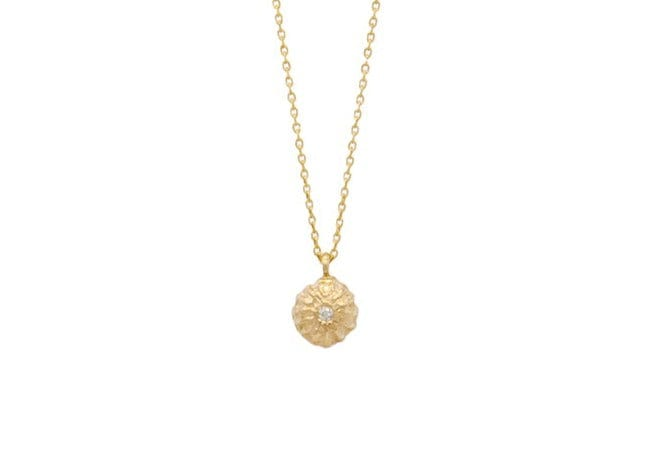 acacia seed diamond necklace