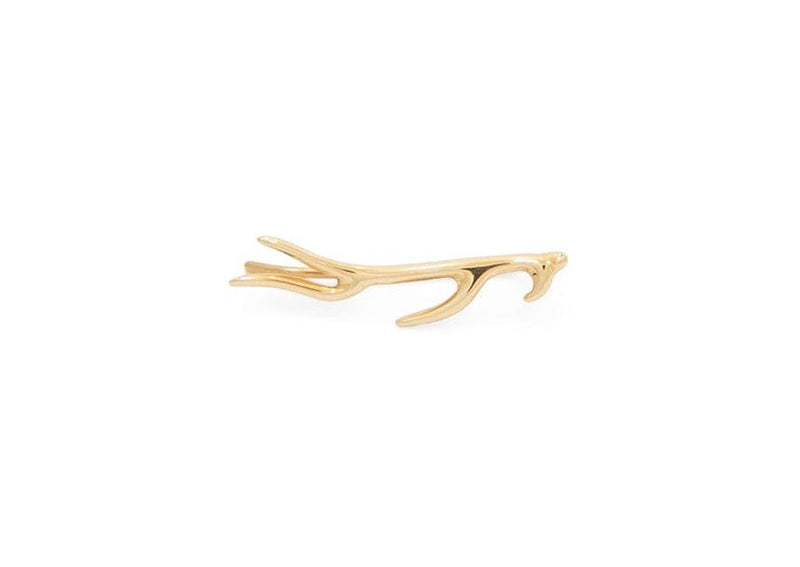 14k gold ocean inspired sea plant ear crawler