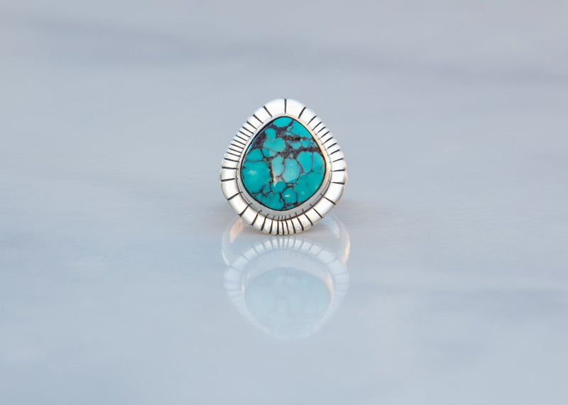 handmade sterling silver and turquoise ring