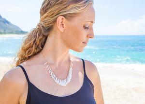 elegant shell necklace hawaii