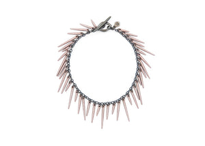spiky rose gold powder coated urchin bracelet