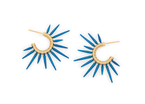 blue powder coated urchin earrings