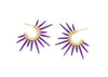 purple sea urchin earrings