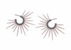 handmade powder coated urchin earrings