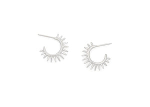 silver urchin earrings hawaii