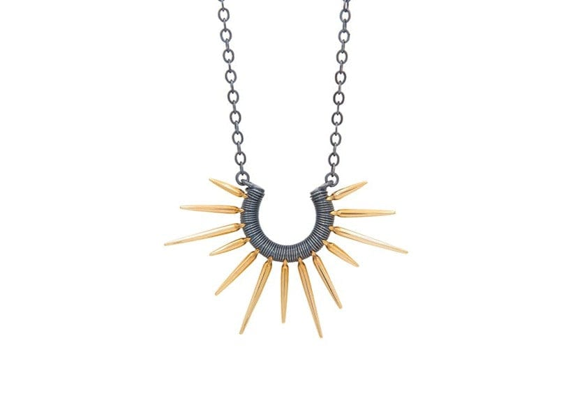 14k gold ocean inspired Urchin Necklace