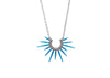 handmade powder coated urchin necklace