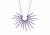 purple spike necklace with black chain