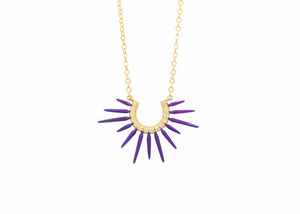 Small Urchin Necklace- Powder Coated