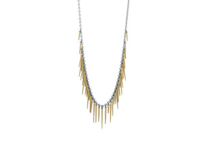 Urchin Fringe Necklace- Powder Coated