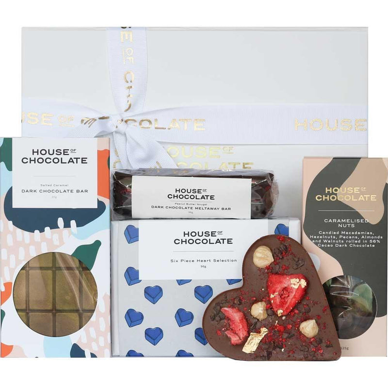 House of Chocolate | Heart Gift Box Blue