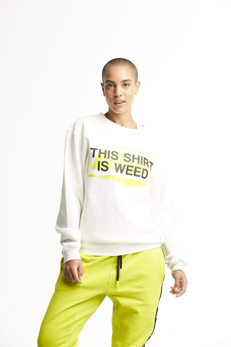 Hempx® Spray This Shirt Is Weed™ Sweatshirt White