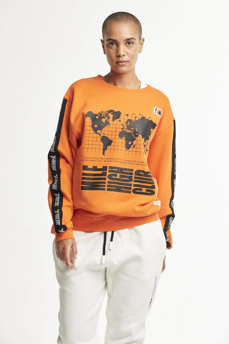 Hempx® WorldWide Sweatshirt Orange
