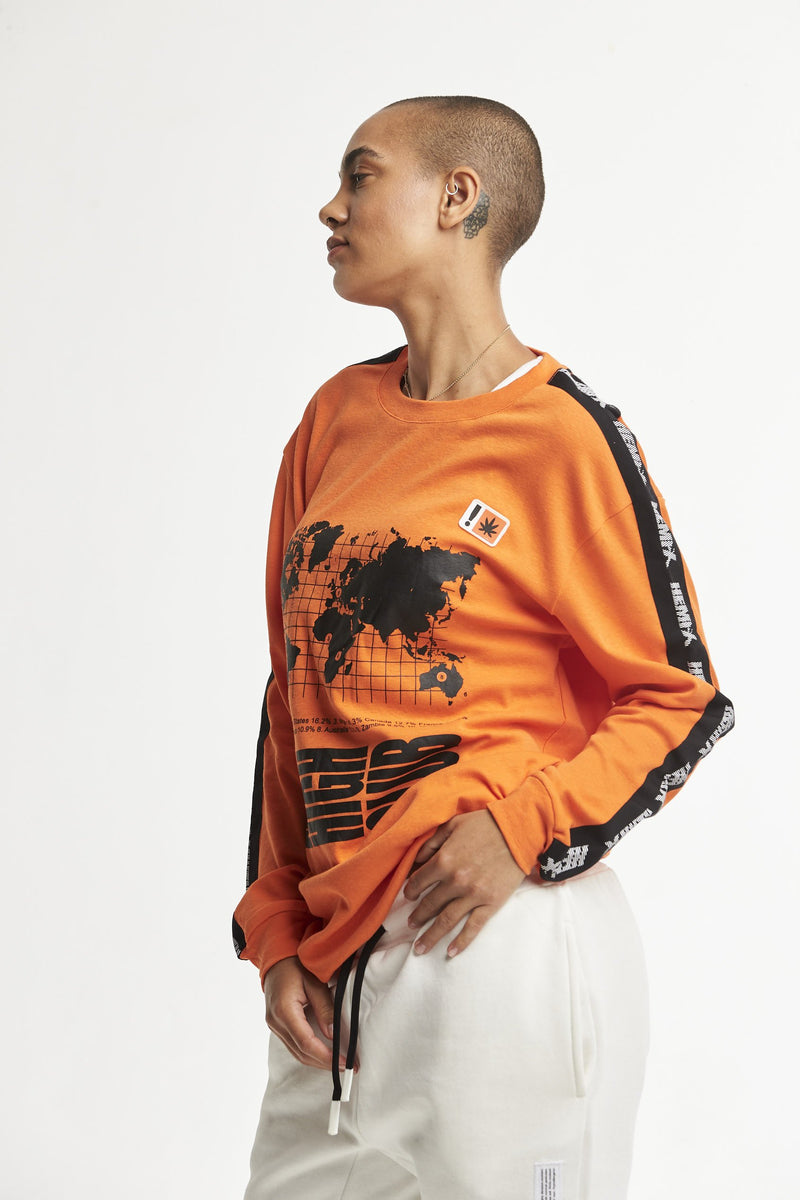 Hempx® WorldWide L/S Orange