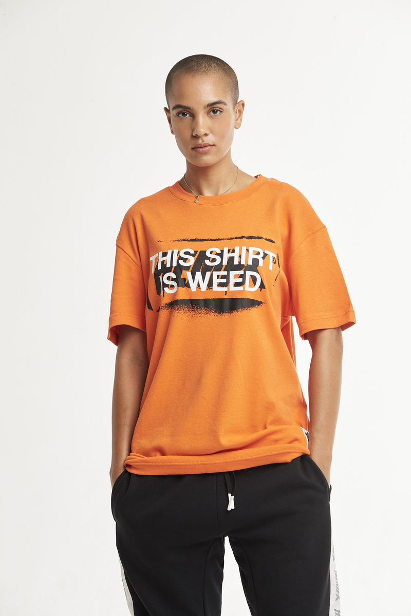 Hempx® Spray This Shirt Is Weed™ Tee Orange