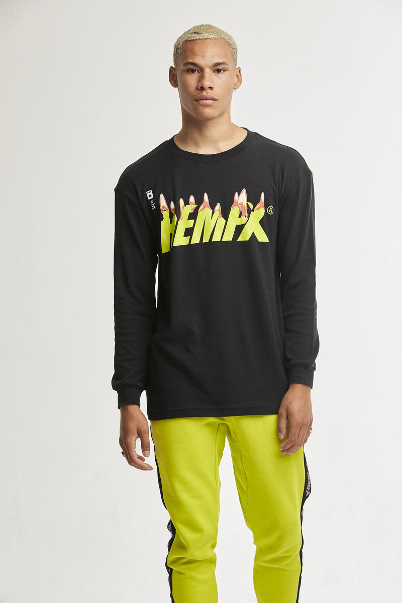 Hempx® Flame L/S Green on Black