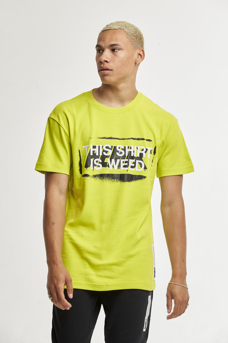 Hempx® Spray This Shirt Is Weed™ Tee Neon Green