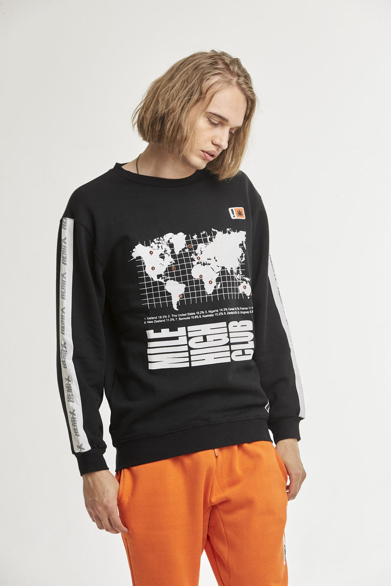 Hempx® WorldWide Sweatshirt Black