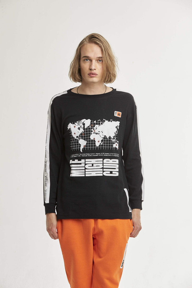 Hempx® WorldWide L/S Black