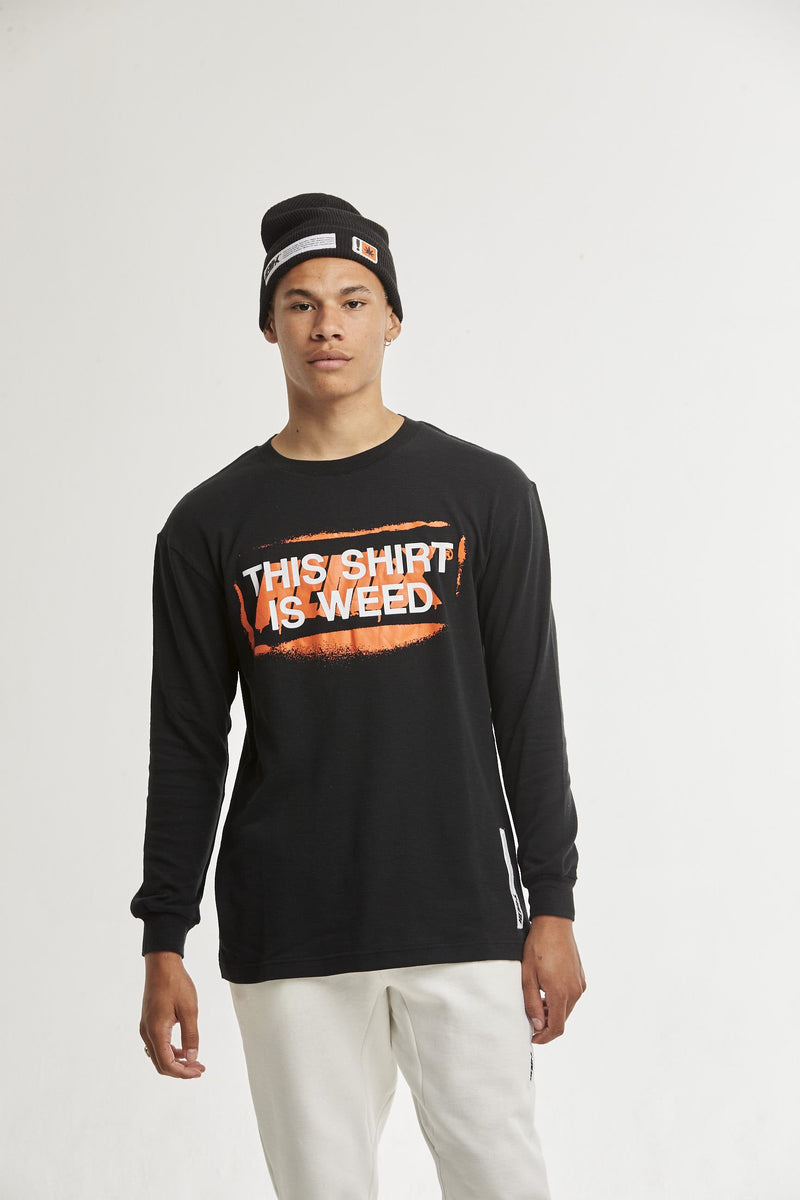 Hempx® Spray This Shirt Is Weed™ L/S Black