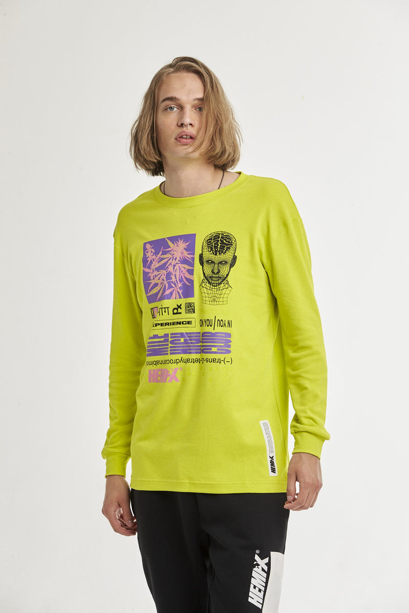 Hempx® Head Change L/S Neon Green