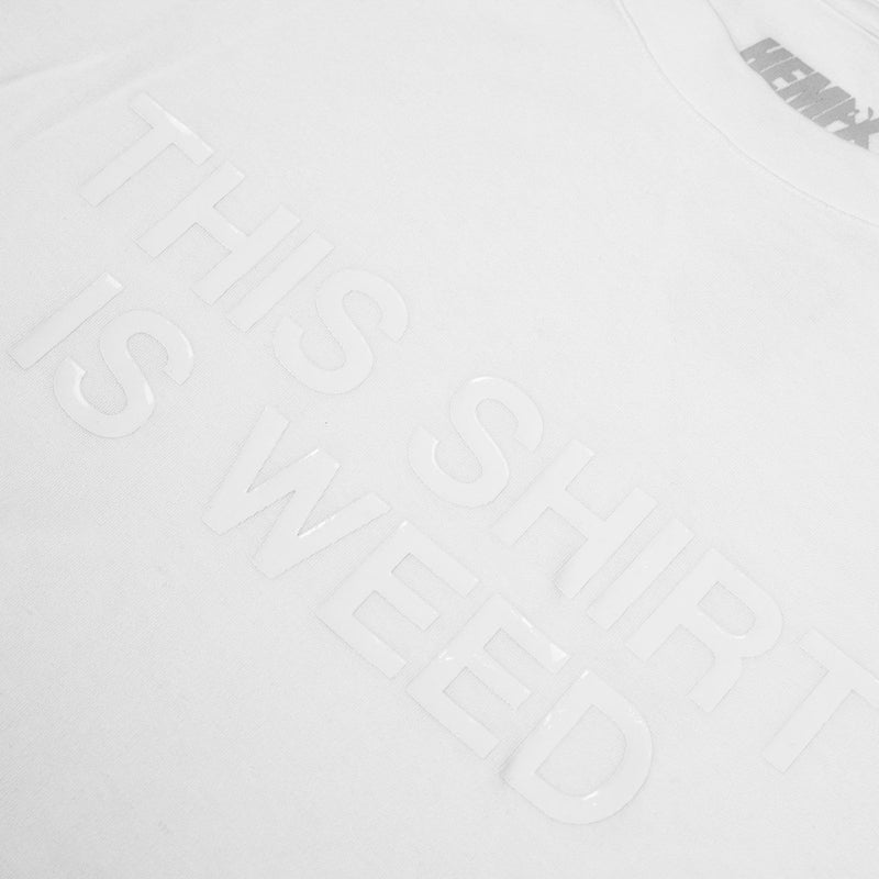 Hempx® Minimal This Shirt Is Weed™ Tee White on White