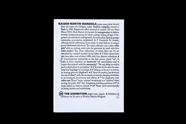 Maison Martin Margiela: 20 the Exhibition